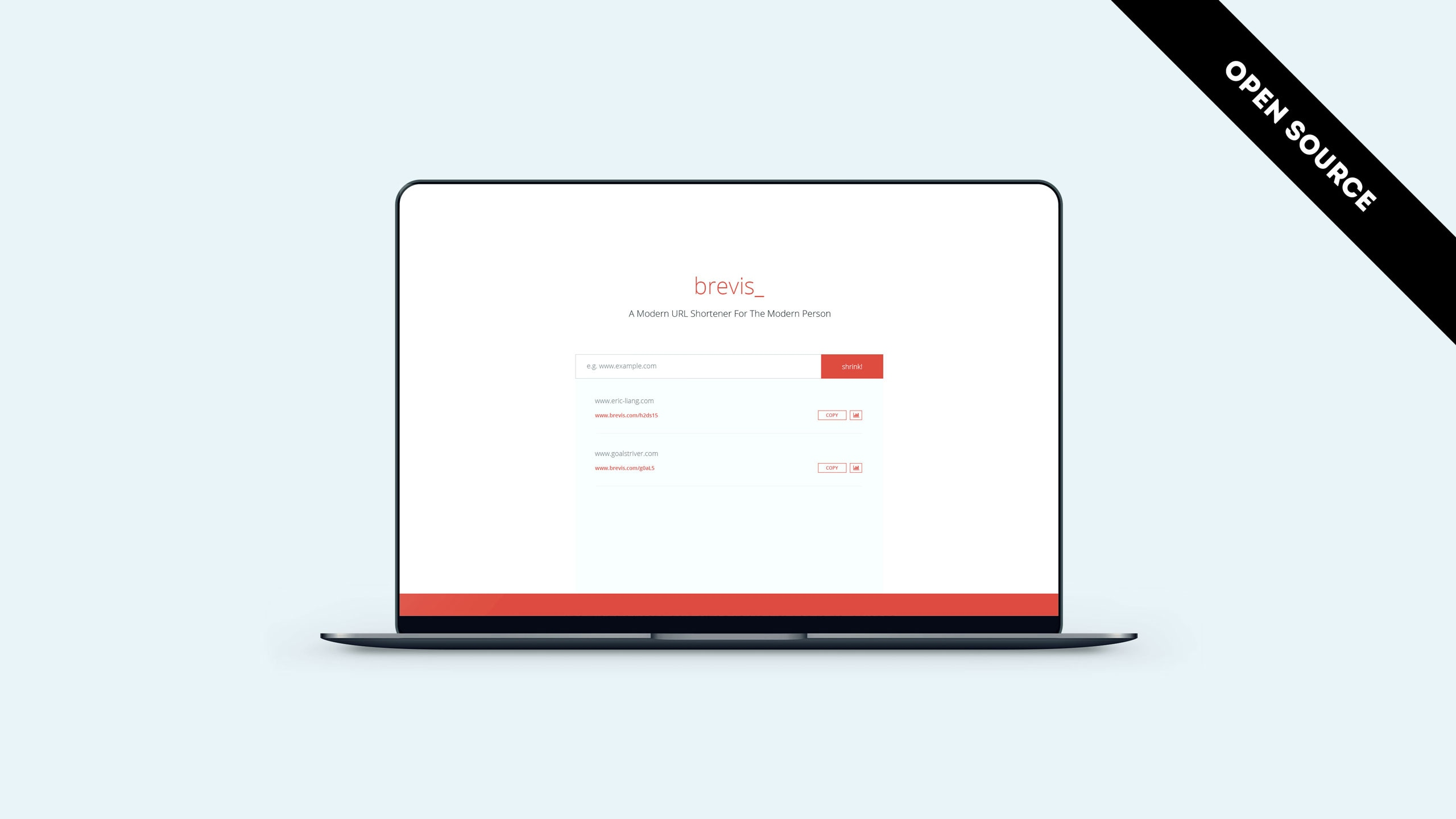 Brevis URL Shortening Web App Portfolio Project Cover