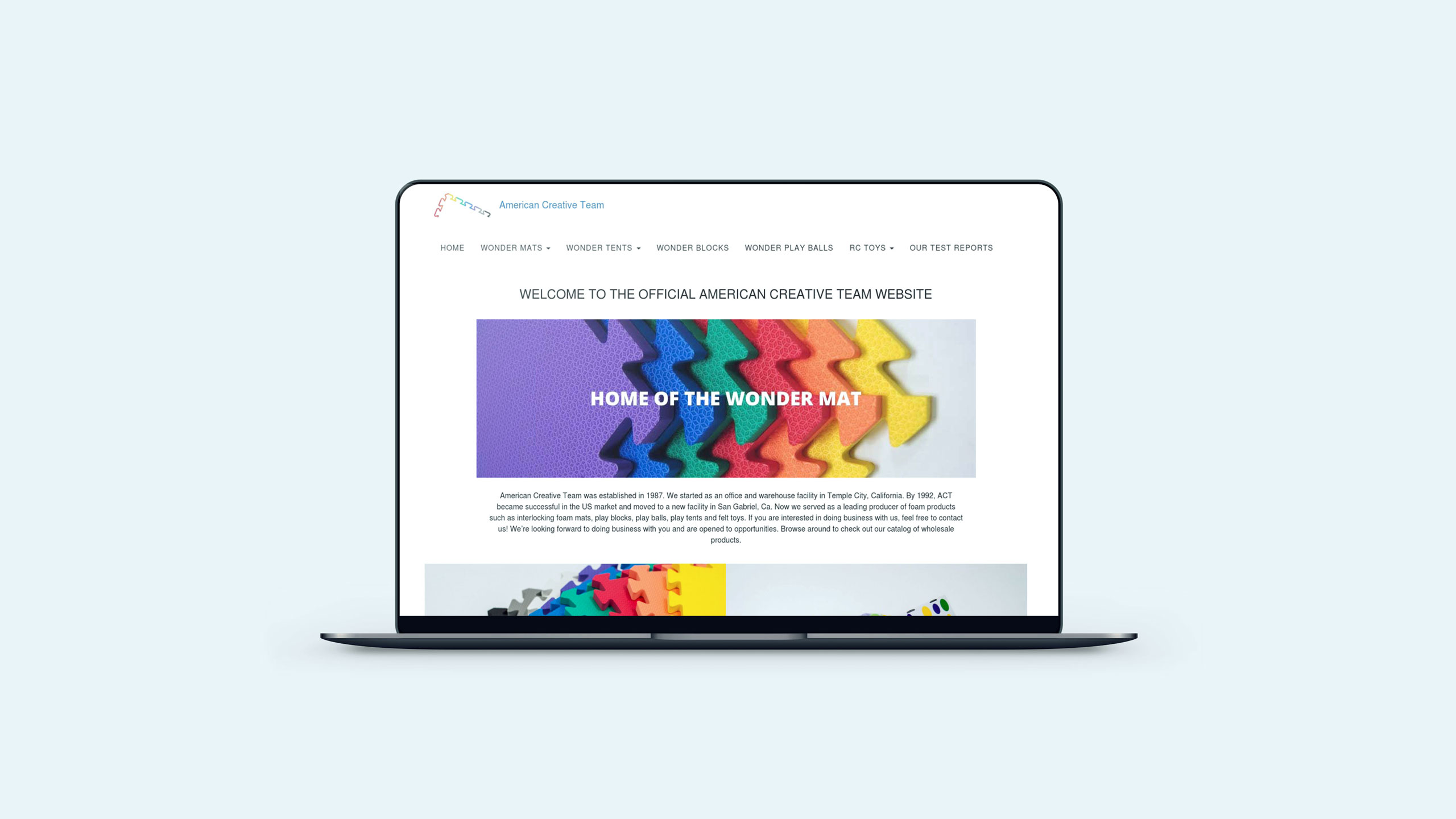 American Creative Team Website Portfolio Cover